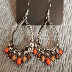 New Earrings Silver with Fall colors